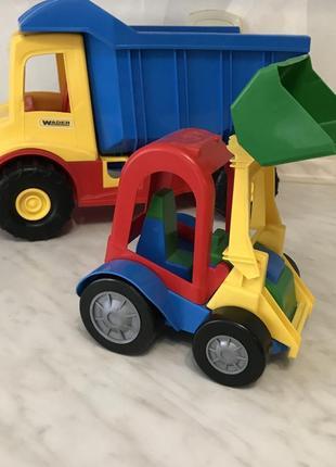 Машинка-грузовик + экскаватор, как новые