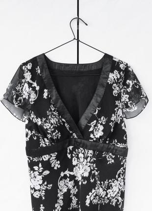 Весна лето блуза топ туника майка футболка цветочный принт