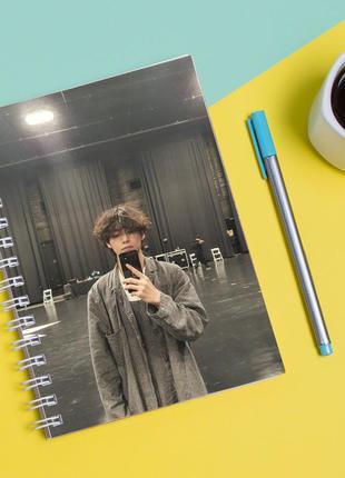 """Скетчбук (sketchbook) для рисования с принтом """"bts (ви) 4"""""""
