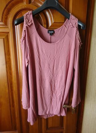 Трикотаж розовый свитерок р-р xxl