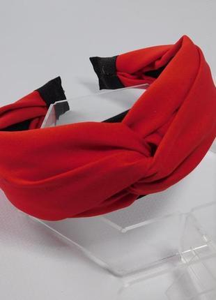 Обруч-чалма, колір червоний