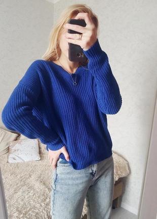 Трендовий светр оверсайз з переплетеною спинкою nly trend