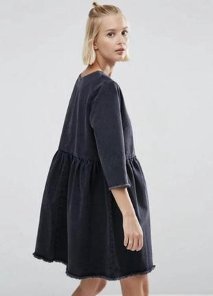 Джинсовое платье topshop черного цвета