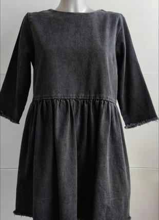 Джинсовое платье topshop черного цвета3 фото
