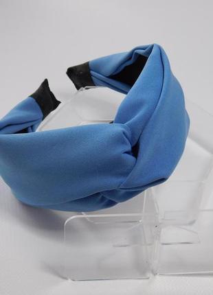 Обруч-чалма, колір світло-синій