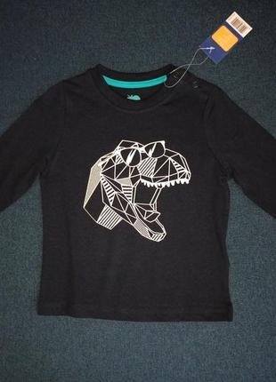 Новый реглан кофта футболка на мальчика дино 12-24мес 86/92