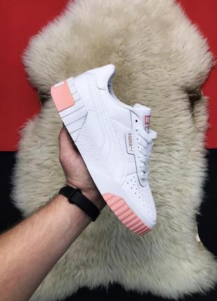 Женские кроссовки puma cali white peach