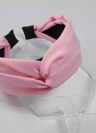 Обруч-чалма, колір рожевий