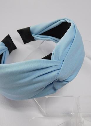 Обруч-чалма, колір голубий