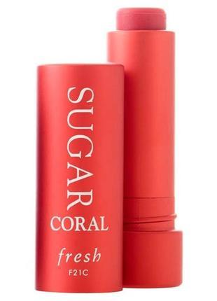 Оттеночный бальзам для губ от fresh sugar tinted lip treatment