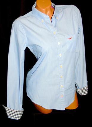 Hollister шикарная рубашка - m - s