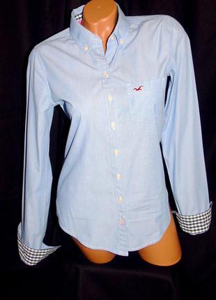 Hollister шикарная рубашка - m - s6 фото