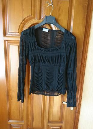 Чёрный полиэстер свитер р-р uk 14