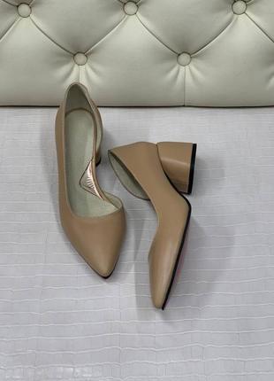 Шкіряні туфлі лодочка кожаные туфли