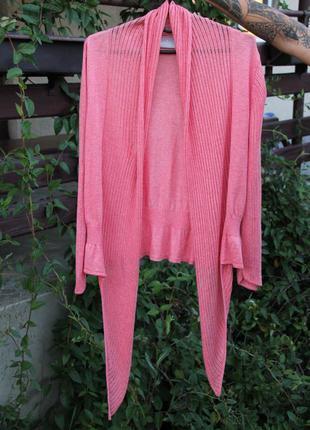 Кофта s xs кардиган коралловая кофточка свитер джемпер свитшот свитерок пиджак накидка