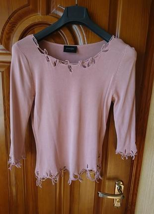 Вискоза розовый свитерок р-р евро 42