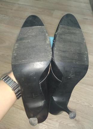 Туфли женские на шпильке острый носок переплетение фирменные 394 фото