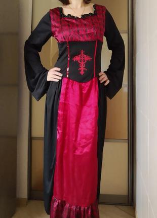 Карнавальный костюм платье средневековья герцогиня2 фото
