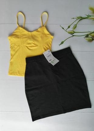 Стильный комплект майка топ и юбка