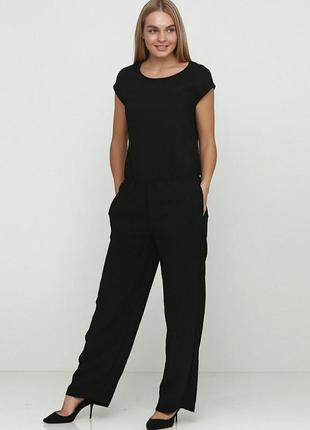 Комбинезон, брючный, ромпер, женский, черный, esmara, размер 40/l/46, 17574