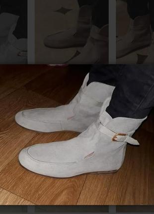 Итальянские замшевые летние ботинки fred de la bretoniere размер 38