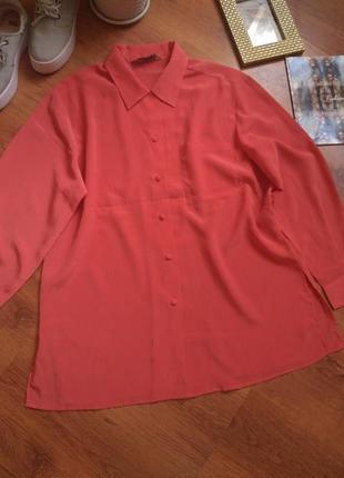 Кораловая блузка2 фото