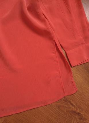 Кораловая блузка3 фото