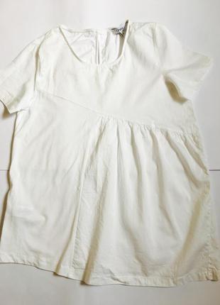 Комбинированная белая футболка можно беременным  турция