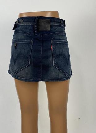 Юбка мини levis, джинсовая6 фото