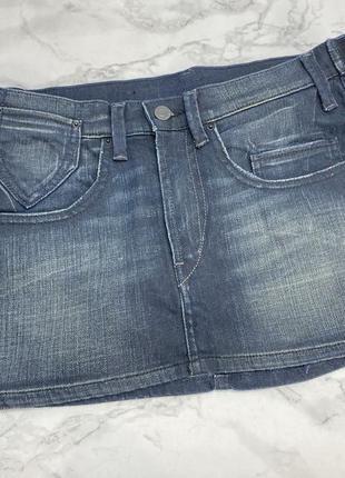 Юбка мини levis, джинсовая4 фото