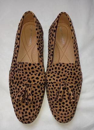 Туфли/ лоферы/ мокасины леопардовые.3 фото