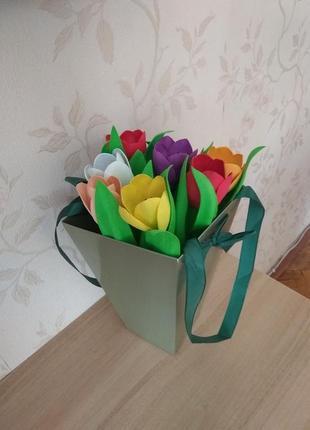 Букет тюльпанов из фоамирана