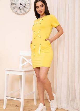 Плаття літнє , коротке , в спортивному стилі