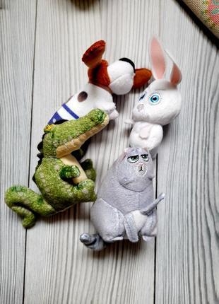 Лот мягких игрушек тайная жизнь домашних животных мак дональдс хеппи мил