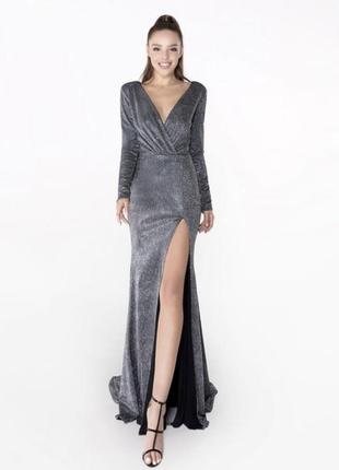 Вечернее платье выпускное платье crystal со шлейфом и разрезом , випускна сукня