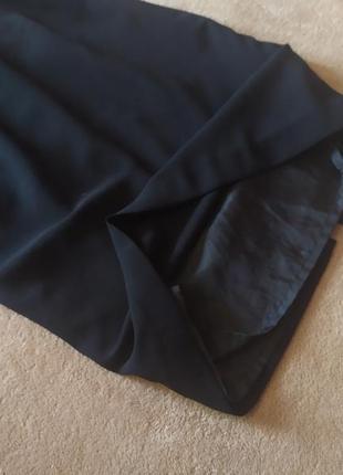 Базовое качесвтенное чёрное платье футляр миди7 фото