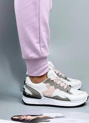 Женские бело-серые  кроссовки 🔸жіночі кросівки