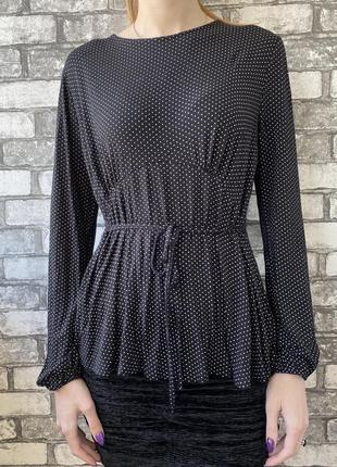 Кофточка топ блуза в горошек вискоза2 фото