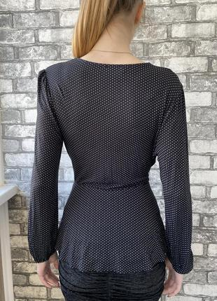 Кофточка топ блуза в горошек вискоза4 фото