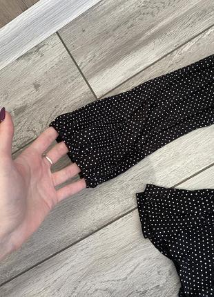 Кофточка топ блуза в горошек вискоза7 фото