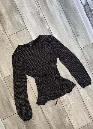 Кофточка топ блуза в горошек вискоза5 фото
