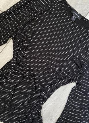 Кофточка топ блуза в горошек вискоза6 фото