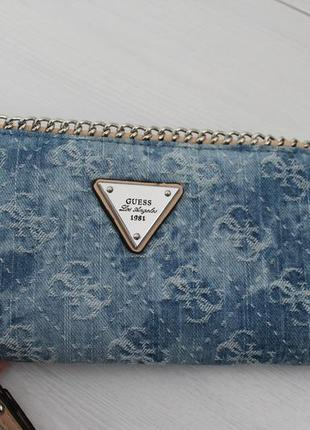 Джинсовий гаманець-портмоне guess