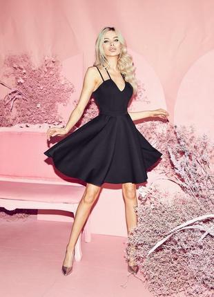 Платье чёрное вечернее мини