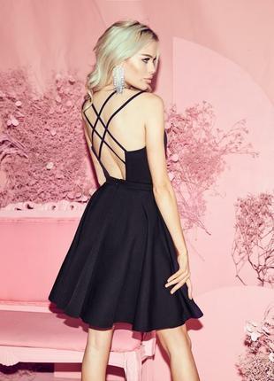 Платье чёрное вечернее мини4 фото