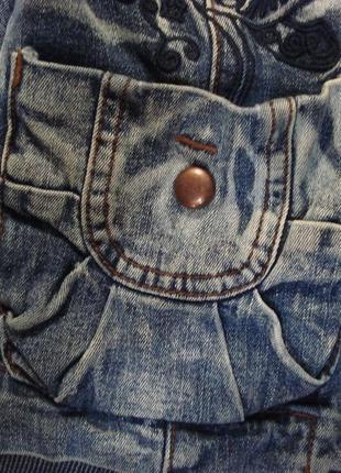 Очень крутой джинсовый пиджак , жакет, куртка 10-123 фото