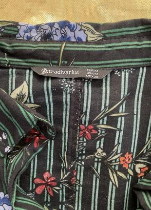 Легкое цветочное платье-рубашка2 фото