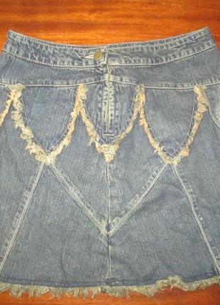 Джинсовая юбка на стройную фигуру per una (пер уна) талия 34 см рр 6 !!!!!!2 фото