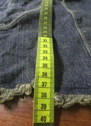 Джинсовая юбка на стройную фигуру per una (пер уна) талия 34 см рр 6 !!!!!!4 фото