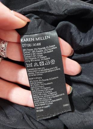 Комбинированое платье черное коданое karen millen6 фото